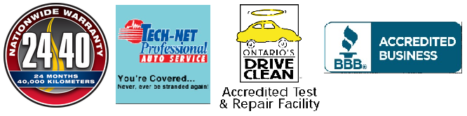 Auto Repair, Nationwide Warranty 24 months, 24,000 miles, Tech Net Professional Auto Service, Drive Clean Accredited Test and Repair Facility, Long Standing Member of the Better Business Bureau