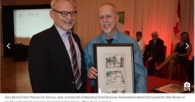 Precise Accepting Outstanding Small Business Award
